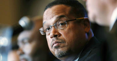 In this Dec. 2, 2016, file photo, U.S. Rep. Keith Ellison, D-Minn., listens during a forum on the future of the Democratic Party, in Denver.