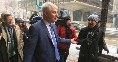 John Dougherty is shown outside Federal court in Philadelphia