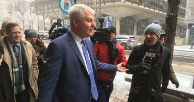 John Dougherty is shown outside Federal court in Philadelphia