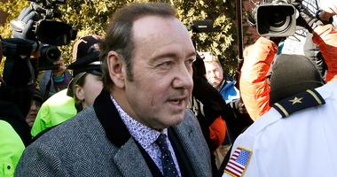 In this Jan. 7, 2019 file photo, actor Kevin Spacey departs from district court after arraignment on a charge of indecent assault and battery in Nantucket, Mass.