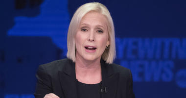 In this Oct. 25, 2018 file photo, Sen. Kirsten Gillibrand, D-N.Y., speaks during the New York Senate debate hosted by WABC-TV, in New York.