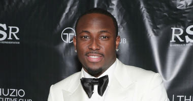 NFL player LeSean McCoy arrives at the Thuzio Executive Club and Rosenhaus Sports Representation Party at Clutch Bar during Super Bowl Weekend, on February 4, 2017 in Houston, TX.