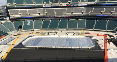 The ice rink at Lincoln Financial Field
