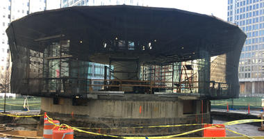 The final piece of the lengthy LOVE Park renovation is making progress.
