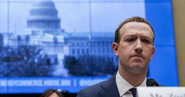 In this April 11, 2018, file photo, Facebook CEO Mark Zuckerberg pauses while testifying before a House Energy and Commerce hearing on Capitol Hill in Washington.