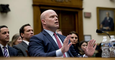 Acting Attorney General Matthew Whitaker speaks after telling Judiciary Committee Chairman Jerrold Nadler, D-N.Y., that his time has expired during questioning before the House Judiciary Committee on Capitol Hill, Friday, Feb. 8, 2019, in Washington.