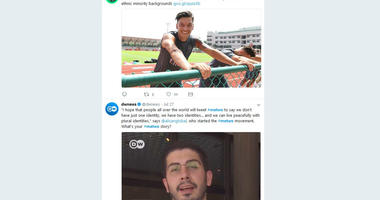 The Monday, July 30, 2018 screenshot shows the #MeTwo Twitter website. The hashtag, a play on the #MeToo movement against sexual harassment, was created by journalist Ali Can following the resignation of soccer star Mesut Ozil.