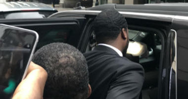 Meek Mill leaves the Criminal Justice Center in Philadelphia on May 30, 2018.