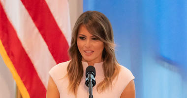 First Lady Melania Trump delivers remarks during a reception with delegates of the 73rd session of the U.N. General Assembly Wednesday, Sept. 26, 2018, at the United States Mission to the United Nations in New York.