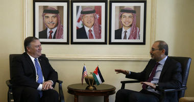 U.S. Secretary of State Mike Pompeo with Jordanian Foreign Minister Ayman Safadi