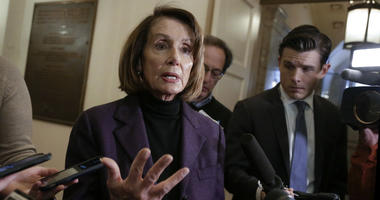 In this Friday, Jan. 18, 2019, file photo, Speaker of the House Nancy Pelosi, D-Calif., takes questions from reporters on Capitol Hill in Washington.
