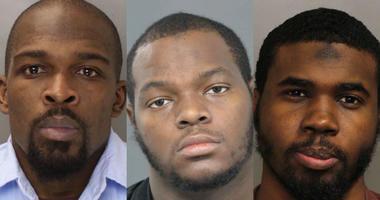 From left: Sadeen Jones, Brandon Davis, Raymond Daniels