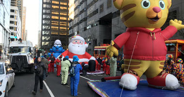 2018 Thanksgiving Parade cast of character balloons