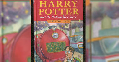 This handout from Christie's shows the cover of J K Rowling's first novel Harry Potter And The Philosopher's Stone.