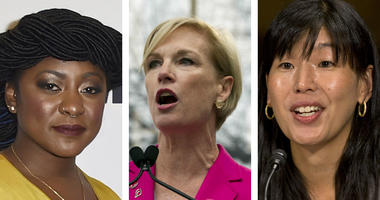 From left: Alicia Garza, co-founders of the Black Lives Matter movement; Cecile Richards, former head of Planned Parenthood; Ai-jen Poo, executive director of the National Domestic Workers Alliance