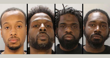 From left: Robert Long, Nassir Moss-Robertson, Keith Garner, Jahlil Porter are charged with the murders of four people found dead in a Southwest Philadelphia basement in November.
