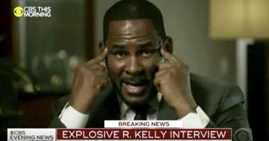 "R. Kelly talks during an interview with Gayle King on ""CBS This Morning"" broadcast Wednesday, March 6, 2019."