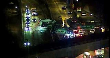Roosevelt Boulevard is closed in both directions for a tractor trailer crash.
