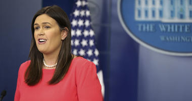 White House press secretary Sarah Huckabee Sanders speaks during the daily press briefing in the Brady Press Briefing Room at the White House on May 17, 2018 in Washington, DC.