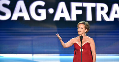 SAG-AFTRA President Gabrielle Carteris speaks at the 24th annual Screen Actors Guild Awards in Los Angeles.