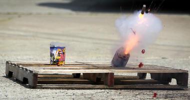 Fireworks safety demonstration