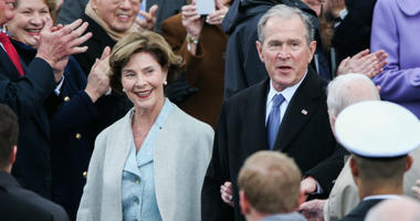 Laura Bush and President George W. Bush