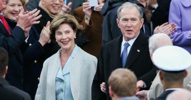 Laura Bush and President George W. Bush