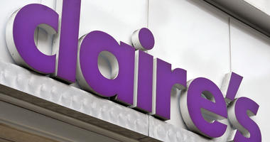 File photo dated 06/01/16 of a shop sign for claire's in central London.