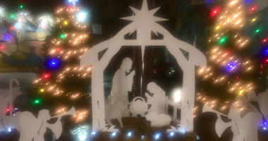 A nativity scene in South Philly's Italian Market has been restored.