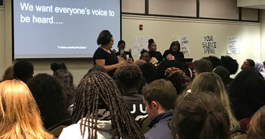 St. Josephs University students pack a room to talk about race and bias.