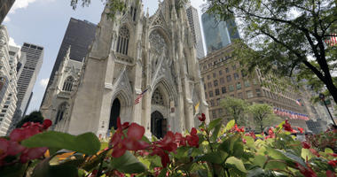 In this Sept. 6, 2018 file photo, St. Patrick's Cathedral is seen in New York.