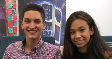 Alfredo Pratico of Masterman and Julia Frank of Northeast High are student representatives on the Philadelphia School Board.