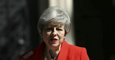 Britain's Prime Minister Theresa May makes a statement outside at 10 Downing Street in London, Friday May 24, 2019. Theresa May says she'll quit as UK Conservative leader on June 7, sparking contest for Britain's next prime minister.