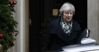 Britain's Prime Minister Theresa May leaves 10 Downing Street, in London Monday, Dec. 17, 2018, for the House of Commons to make a statement on the EU Summit held recently in Brussels.