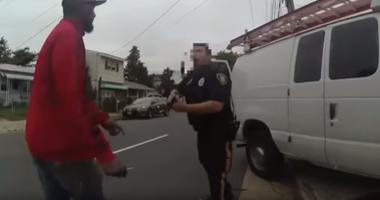 Body camera video shows Timothy Deal approaching officer with a knife.