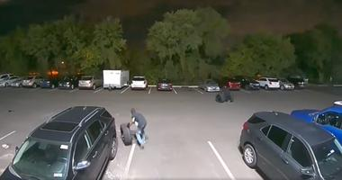 Evesham Township Police Department is trying to identify two suspects who stole 12 complete wheels from vehicles parked at the Elkins Chevrolet Dealership.