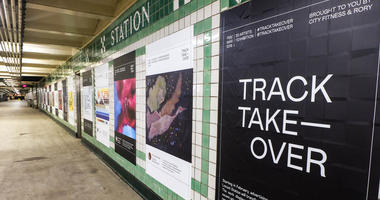 Track Takeover, a public art exhibit, features 30 different Philadelphia artists in the entire Walnut-Locust Station.