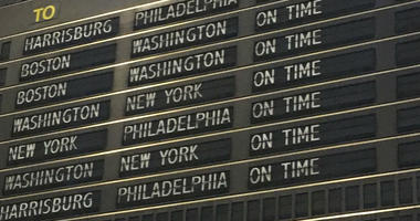The one thing all travelers hope to see when they get to 30th Street Station or the Airport - everything running on time.