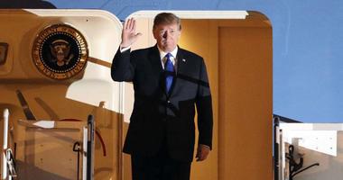 U.S President Donald Trump arrives at Noi Bai Airport before a summit with North Korean leader Kim Jong Un, Tuesday, Feb. 26, 2019, in Hanoi.
