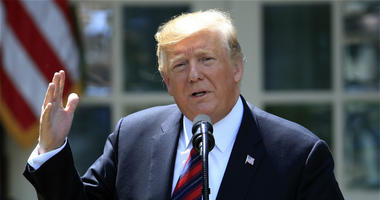 In this May 16, 2019, file photo, President Donald Trump speaks in the Rose Garden of the White House in Washington.