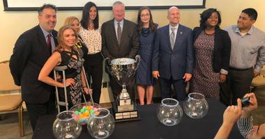 Mayor Jim Kenney drew teams for the third season of the Philadelphia Unity Cup
