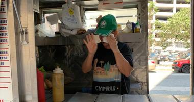 Food vendor outside Hahnemann