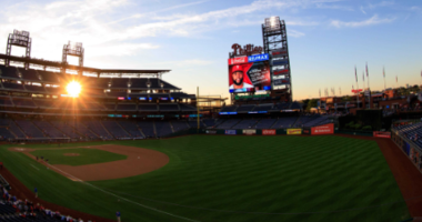 General view of Citizens Bank Park before a game between the Philadelphia Phillies and the Atlanta Braves.
