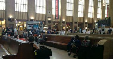 Inside 30th Street Station.