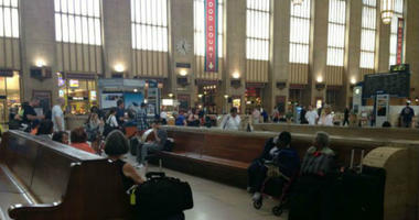 Inside 30th Street Station.