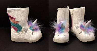 """About 33,600 Cat & Jack Unicorn """"Chiara"""" Boots have been recalled."""