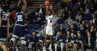 Penn freshman Bryce Washington is shooting 56 percent from three so far this season.