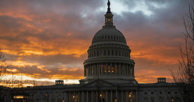 The Capitol at sunset after the Senate rejected competing Democratic and Republican proposals for ending the partial government shutdown, which is the longest in the nation's history, in Washington, Thursday, Jan. 24, 2019.