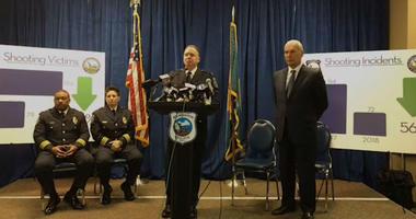 Wilmington Police Chief Robert Tracy briefs reporters.