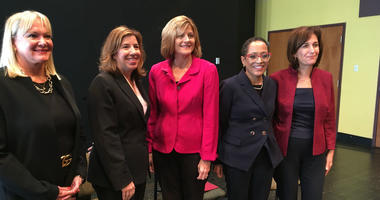 From left: Robin L. Wiessmann, Pa. Secretary of Banking and Securities; Leslie Richards, Pa. Secretary of Transportation; Angela G. Mago, KeyCorp; Eloise Young, Philadelphia Gas Works; Susan Jacobson, Jacobson Strategic Communications